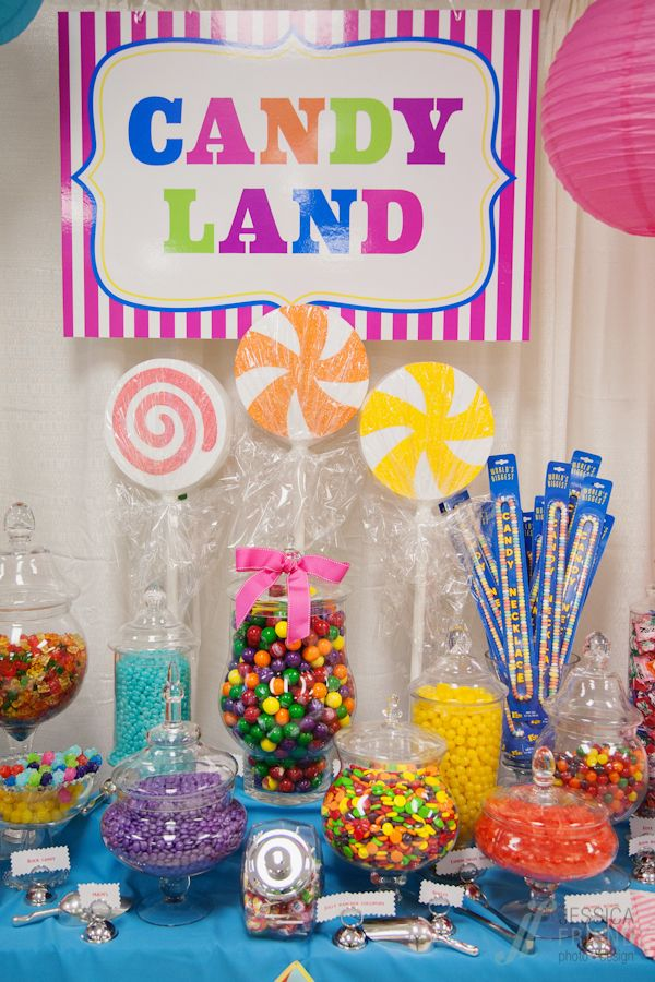 candy land candy table