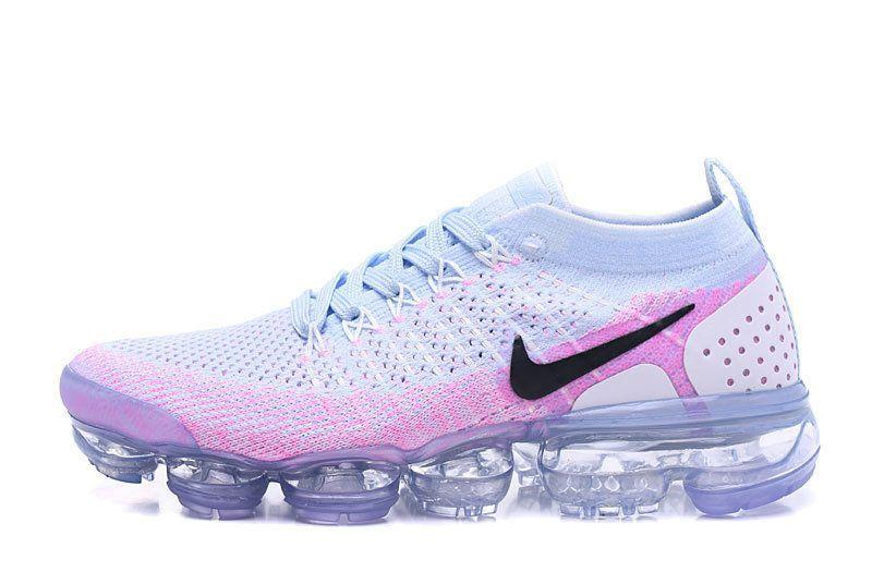 fd46f171b3a Nike Air Vapormax Flyknit 2 Mens Original 2018 Running Shoes Hydrogen Blue  Pink 942843-102