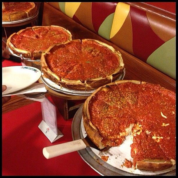 """Another winner, user """"chowdowndetroit"""" made our mouths water with this shot of some tasty Detroit pizza!"""
