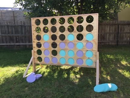 Giant Lawn Games For Hire Connect 4 Jenga Naughts Crosses Entertainment Gumtree Australia Cardinia Area Giant Lawn Games Lawn Games Outdoor Yard Games