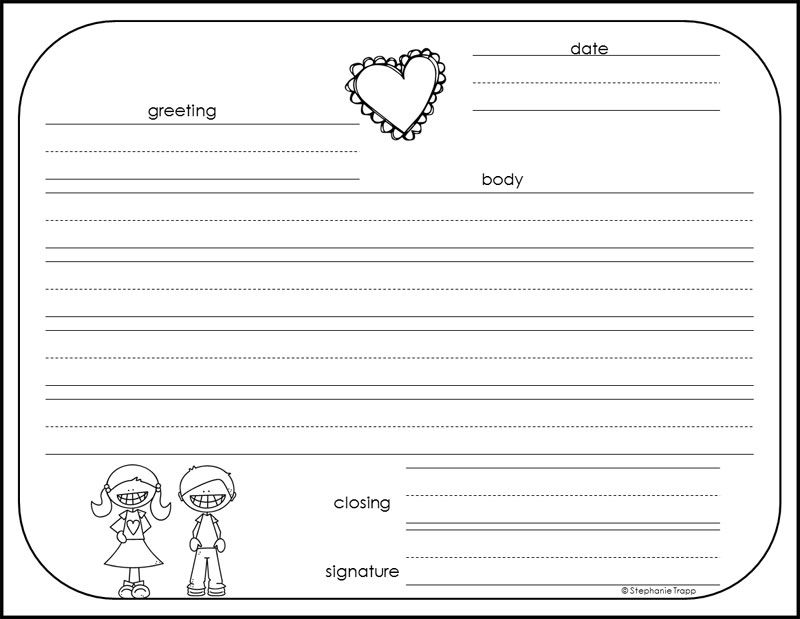 how to write a friendly letter free printables