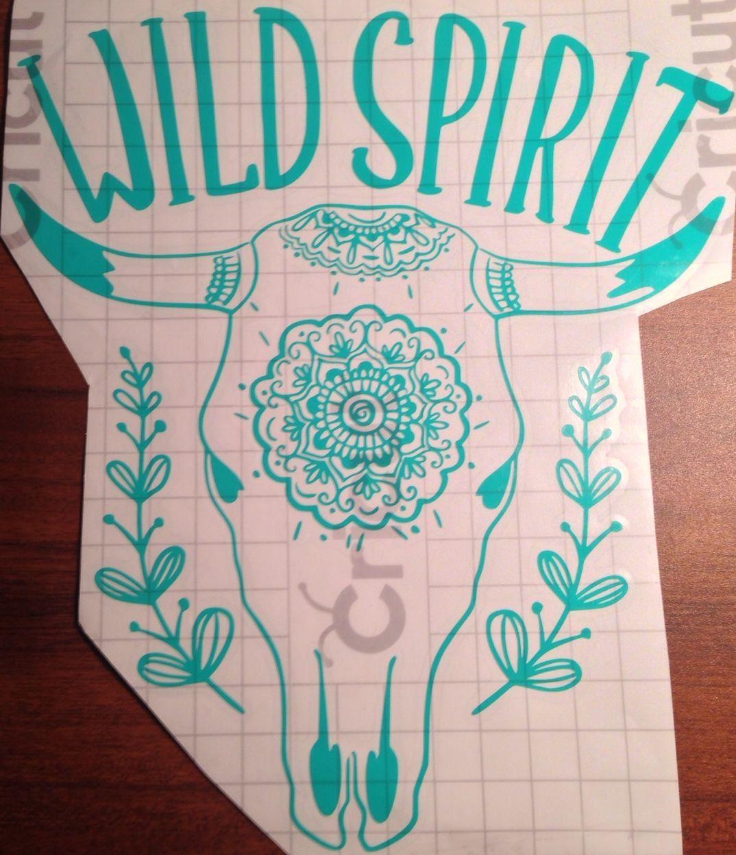 Wild Spirit Decal Car Decal Hippie Vinyl Crafts Vinyl Monogram [ 1248 x 1074 Pixel ]