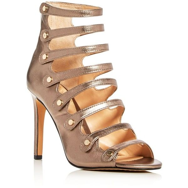 e472d4e8f6c8 Vince Camuto Kanastas Metallic Caged High Heel Sandals ( 135) ❤ liked on  Polyvore featuring