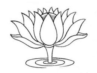 Tibetan Lotus Drawing 1 Flower Coloring Pages Buddhist Artwork Flower Drawing