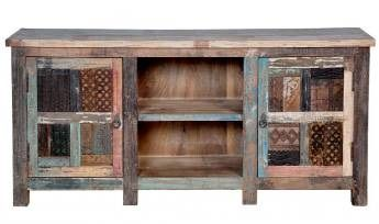 Wonderful Reclaimed Wood And Metal Mesh TV Console From Seven Wonders Furniture    RECTVC27 Amazing Pictures