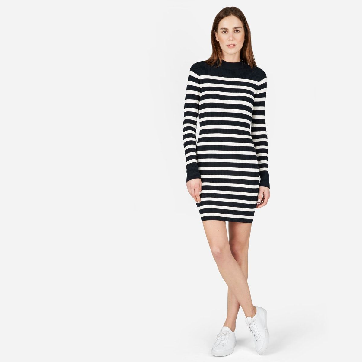 The breton ribbed cotton sweater dress cotton sweater cotton and
