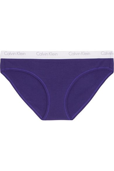 b4b86f373acd04 Calvin Klein Underwear - Ck One Stretch-cotton Jersey Briefs - Purple
