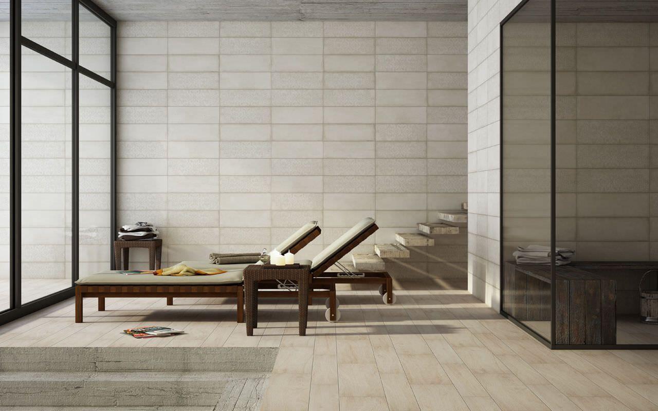 Mixed texture walls Antibacterial ceramic wall tile: stone look ...