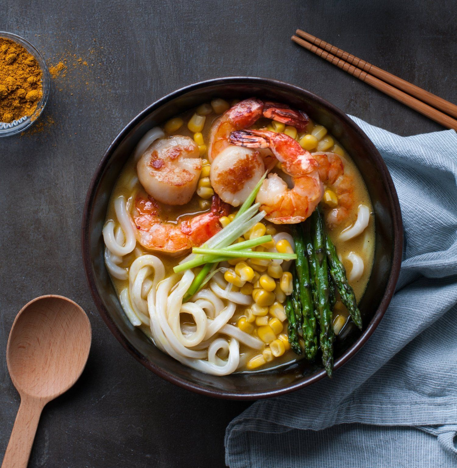 Easy Coconut Curry Seafood Udon { dairy free , gluten-free ...