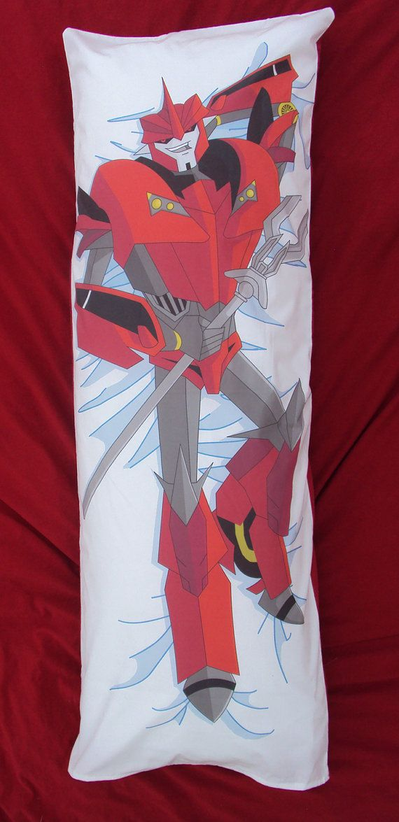 Transformers Prime Knock Out Body Pillow by NostalgiaBombStore, $50.00 - This cracked me up.