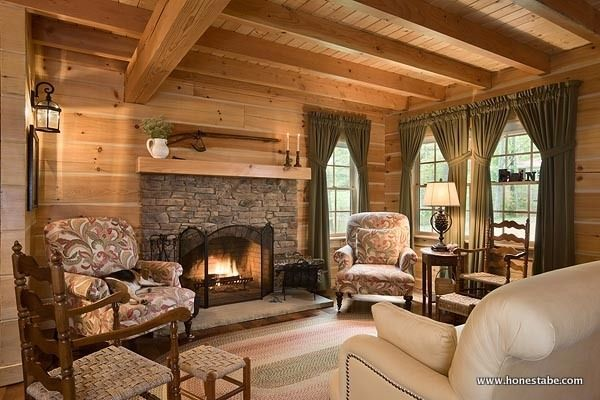 Clayton Log Cabin fits a family of 8 FIRE PLACES Pinterest Log