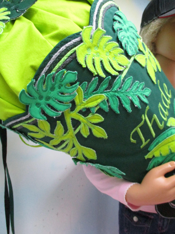 nr 139 xl schultüte urwald panther aus stoff mit kissen 80