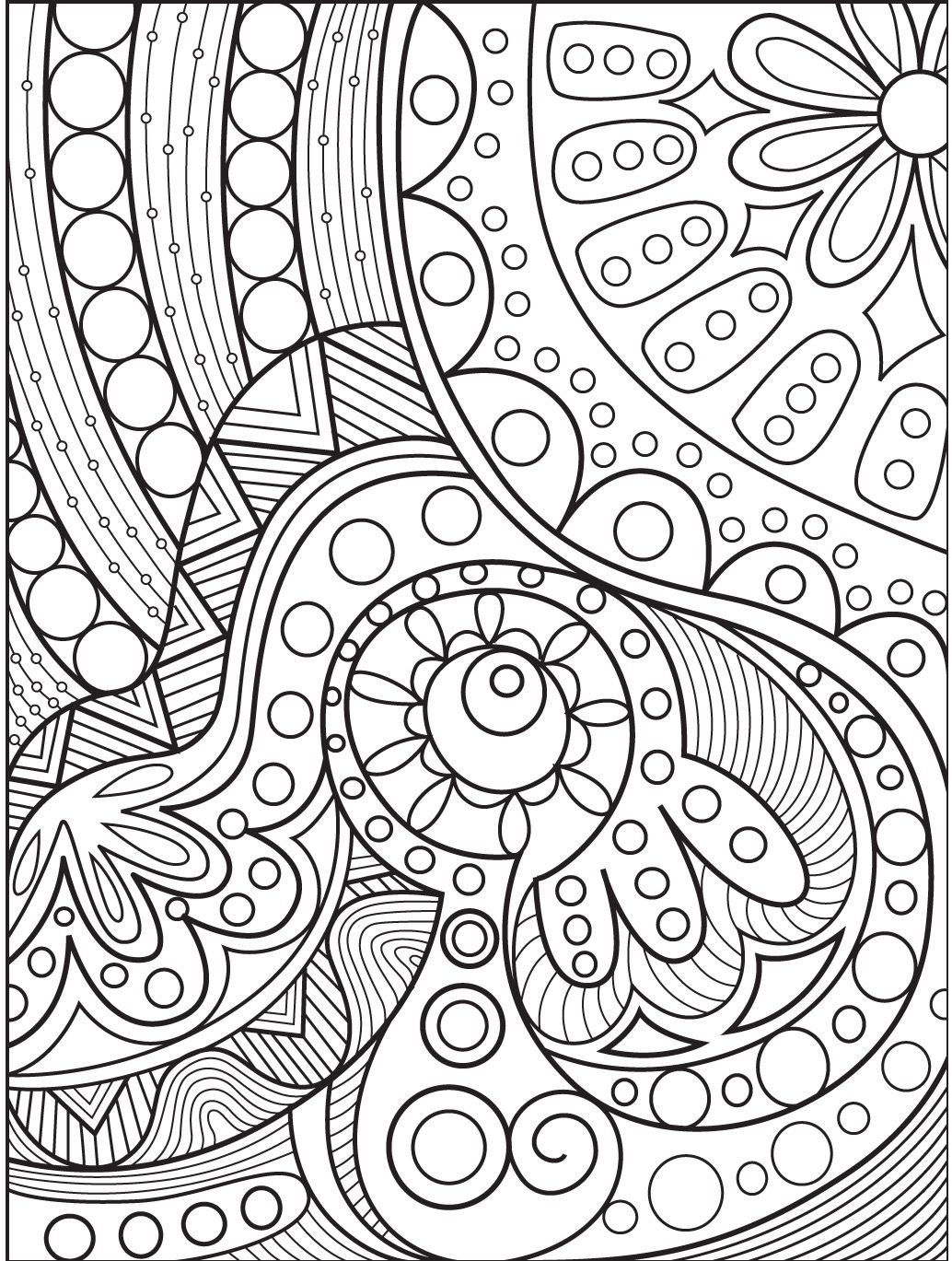 abstract coloring page # 4
