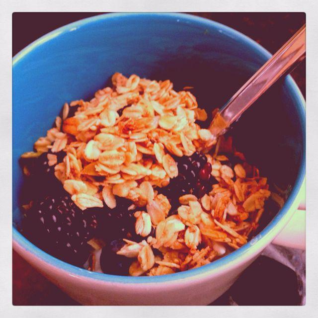 Yogurt with granola & berries