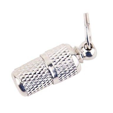 lasca moda mini-forma de garrafa pet tag de metal com papel para cães (2,5 cm) – BRL R$ 6,81