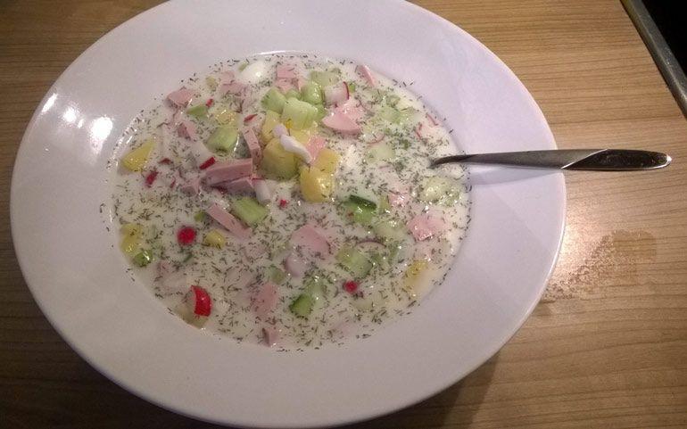 Kalte Suppe - Okroschka #okroschkarezept