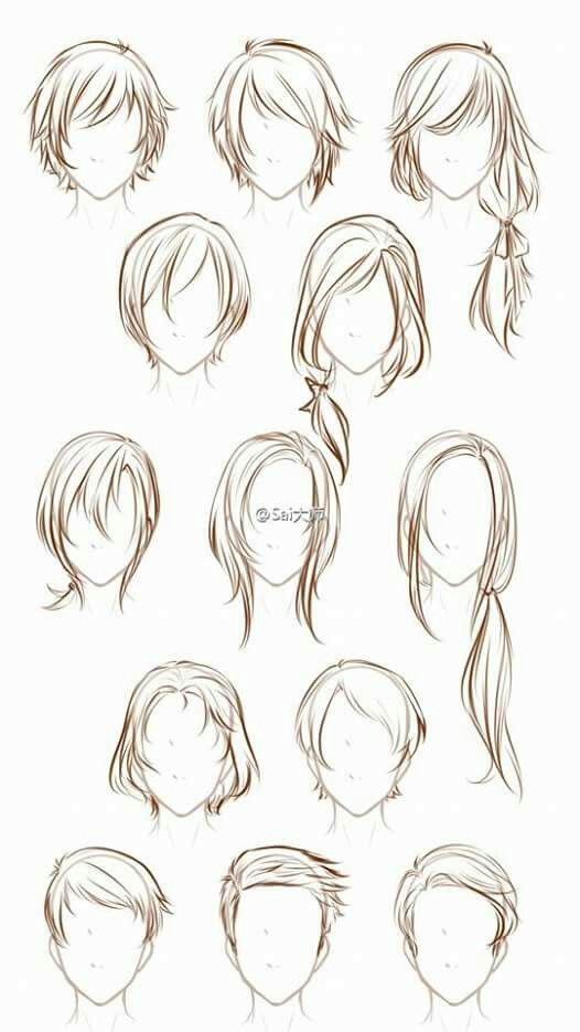 Anime Hairstyles In 2020 How To Draw Hair Anime Drawings Tutorials Manga Hair