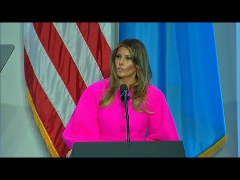 Officially Archangel641 S Blog Melania Trump Our Future Rests In Our Children First Lady Melania Trump First Lady Melania Melania Trump
