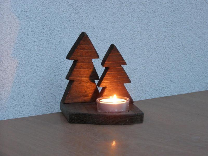 weihnachten kerzenhalter recycling holz von thalassa auf holz und natur. Black Bedroom Furniture Sets. Home Design Ideas
