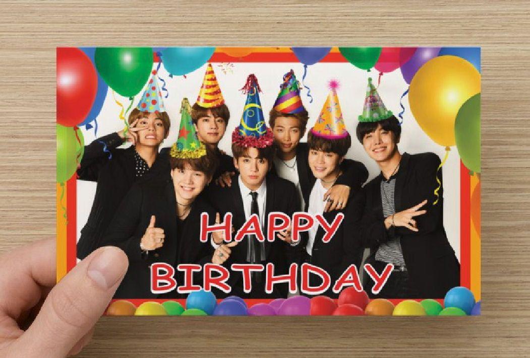 Pin By Yanina Tena On Cumpleanos Ari Bts Happy Birthday Bts Birthdays Birthday Cards