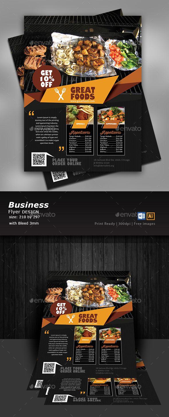 Restaurant Flyer Template Print Templates Bbq Flyer Templates