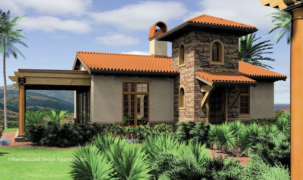 Mascord House Plan 1157 The Rosabella Mediterranean Style House Plans Mediterranean House Plans Coastal House Plans