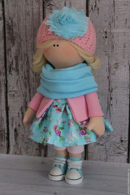 Куклы тыквоголовки ручной работы. Интерьерная кукла. Виктория. Ярмарка Мастеров. Текстильная кукла, Кукольный трикотаж