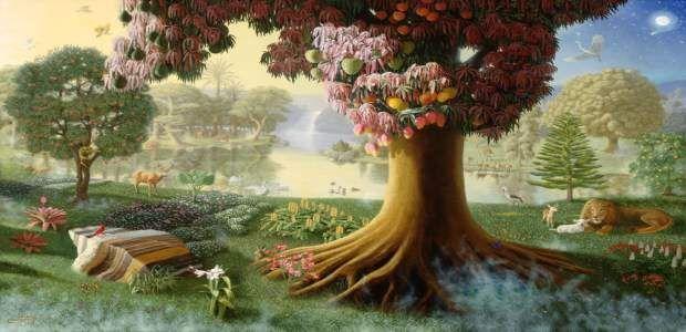 Garden Of Eden Primeval Paradise Garden Of Eden Adam And Eve