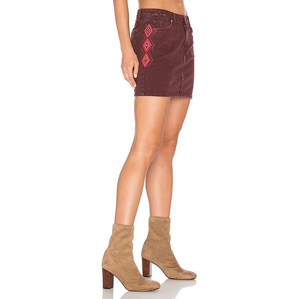 Sandrine Rose The Mini Skirt (£210) ❤ liked on Polyvore featuring skirts, mini skirts, short mini skirts, mini skirt, ripped skirt, red cotton skirt and short skirts