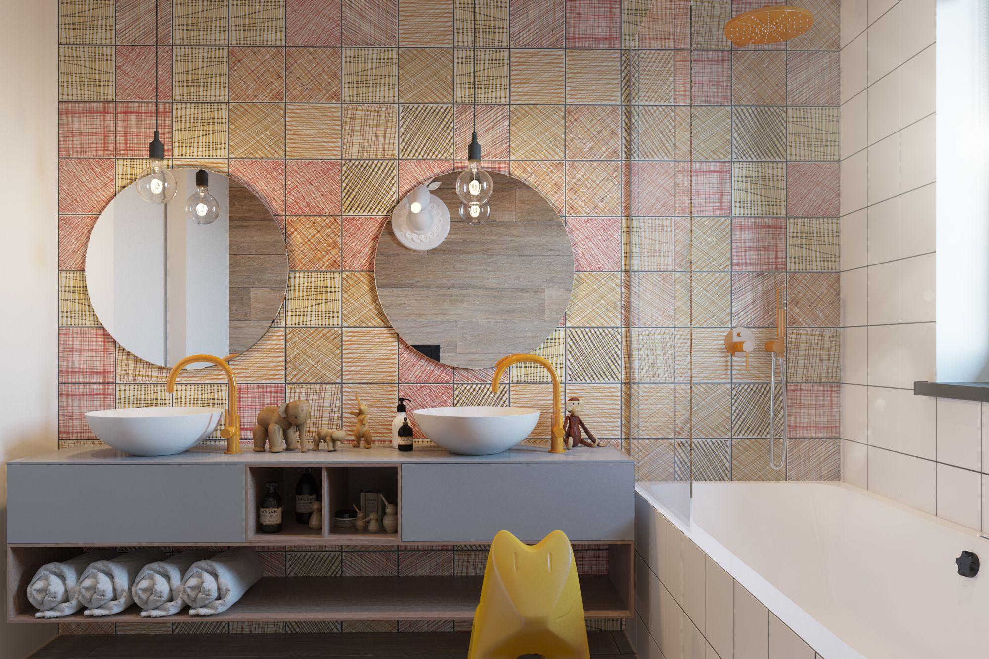- Colour scheme - Tiles - Sink - Lighting
