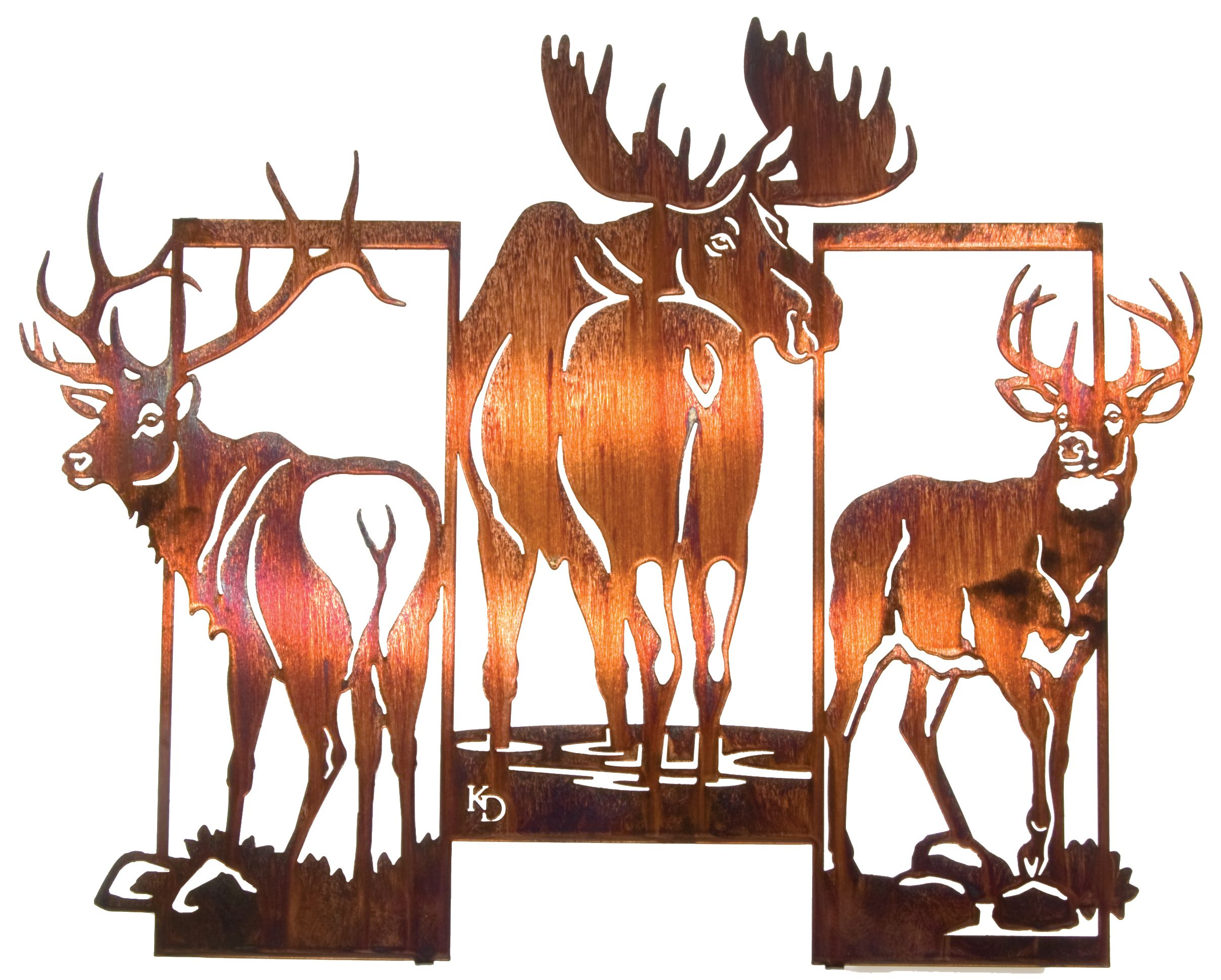 Three Framed Moose And Deer Wall Art Www Rusticeditions Com Kartiny Raskrashennye Kamni Risunki