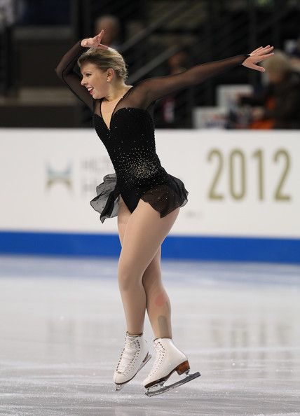 Rachael Flatt -Black Figure Skating / Ice Skating dress inspiration for Sk8 Gr8 Designs.