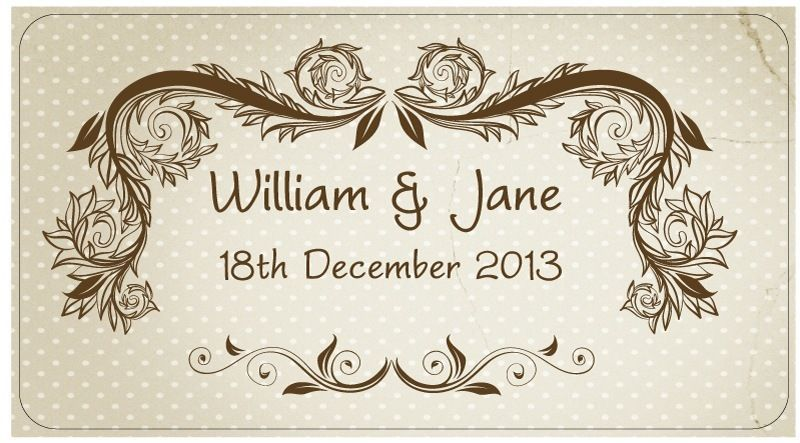 Image is loading Personalised-Wedding-Stickers-Labels -5-sizes-Champagne-Bucket-