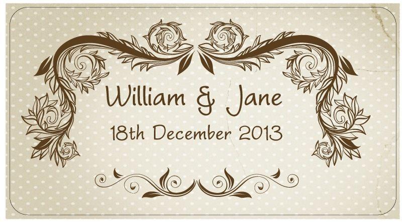 Wedding Sticker Labels/ Seals Personalised- 48 Stickers