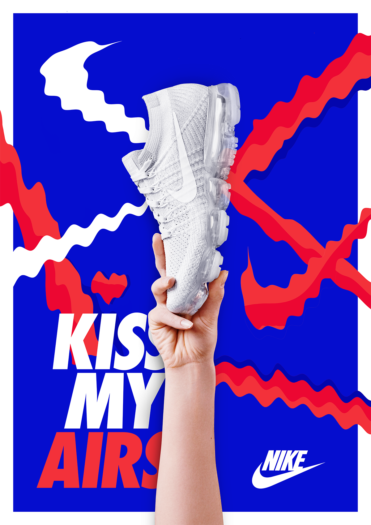 Kiss my Airs contest on Behance Sneaker posters