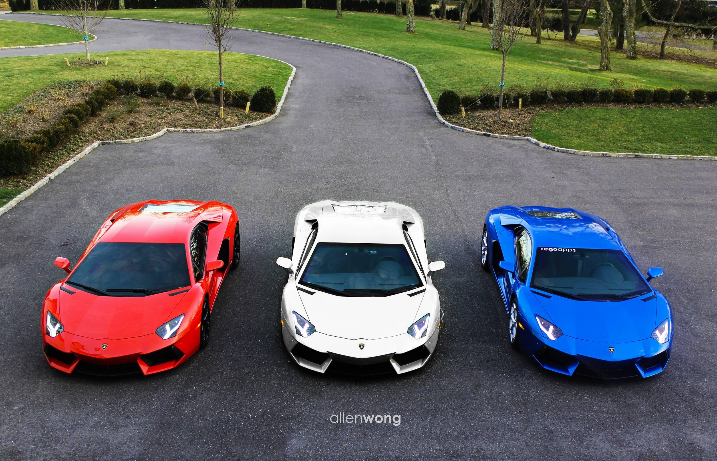 red white blue lamborghini - Lamborghini Aventador Blue Chrome
