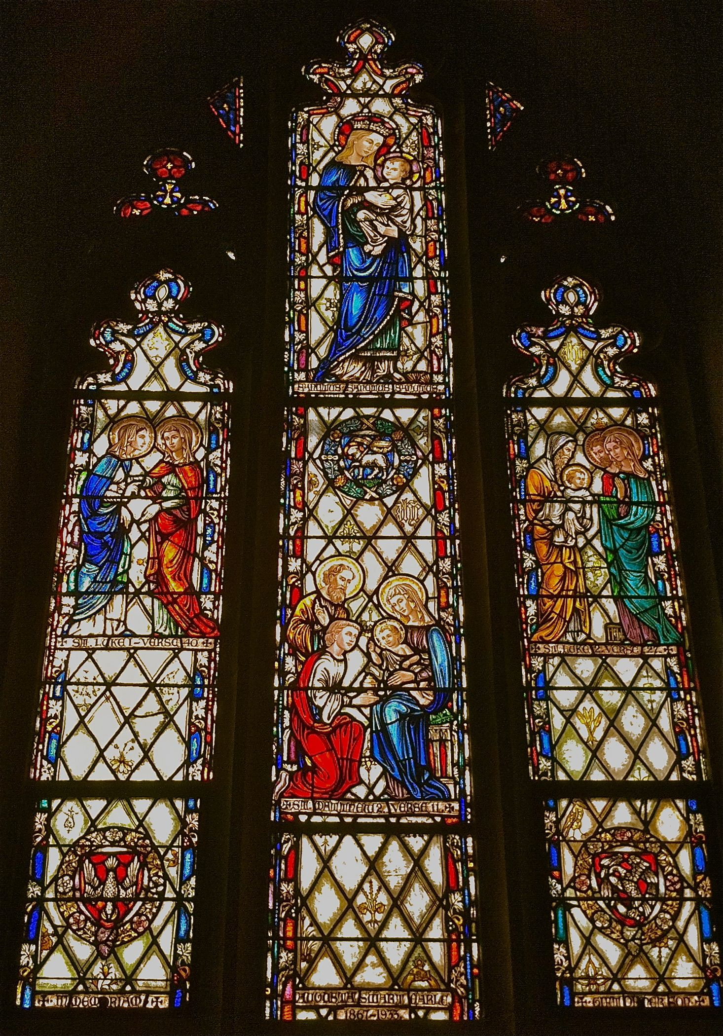 Stained Glass Window At Grace And St Stephen S Episcopal Church