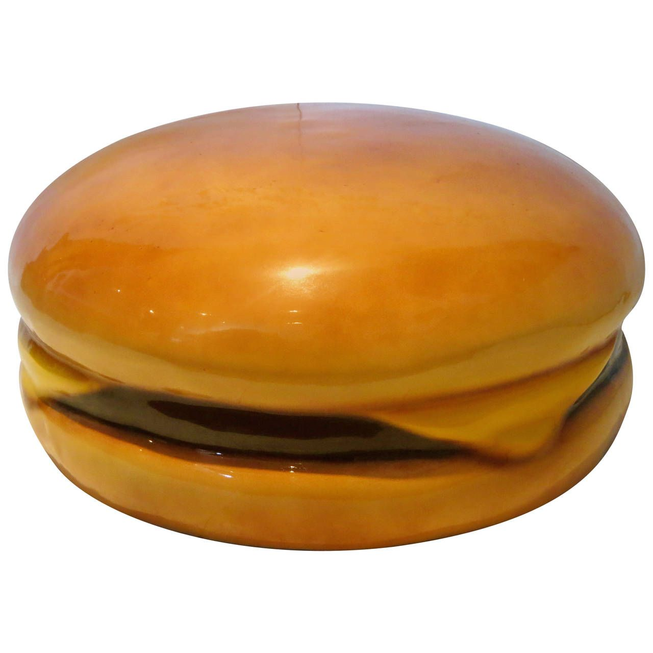 Giant Cheeseburger Molded Foam Fake Food Prop Display Pop Art | See more antique and modern Sculptures at https://www.1stdibs.com/furniture/decorative-objects/sculptures