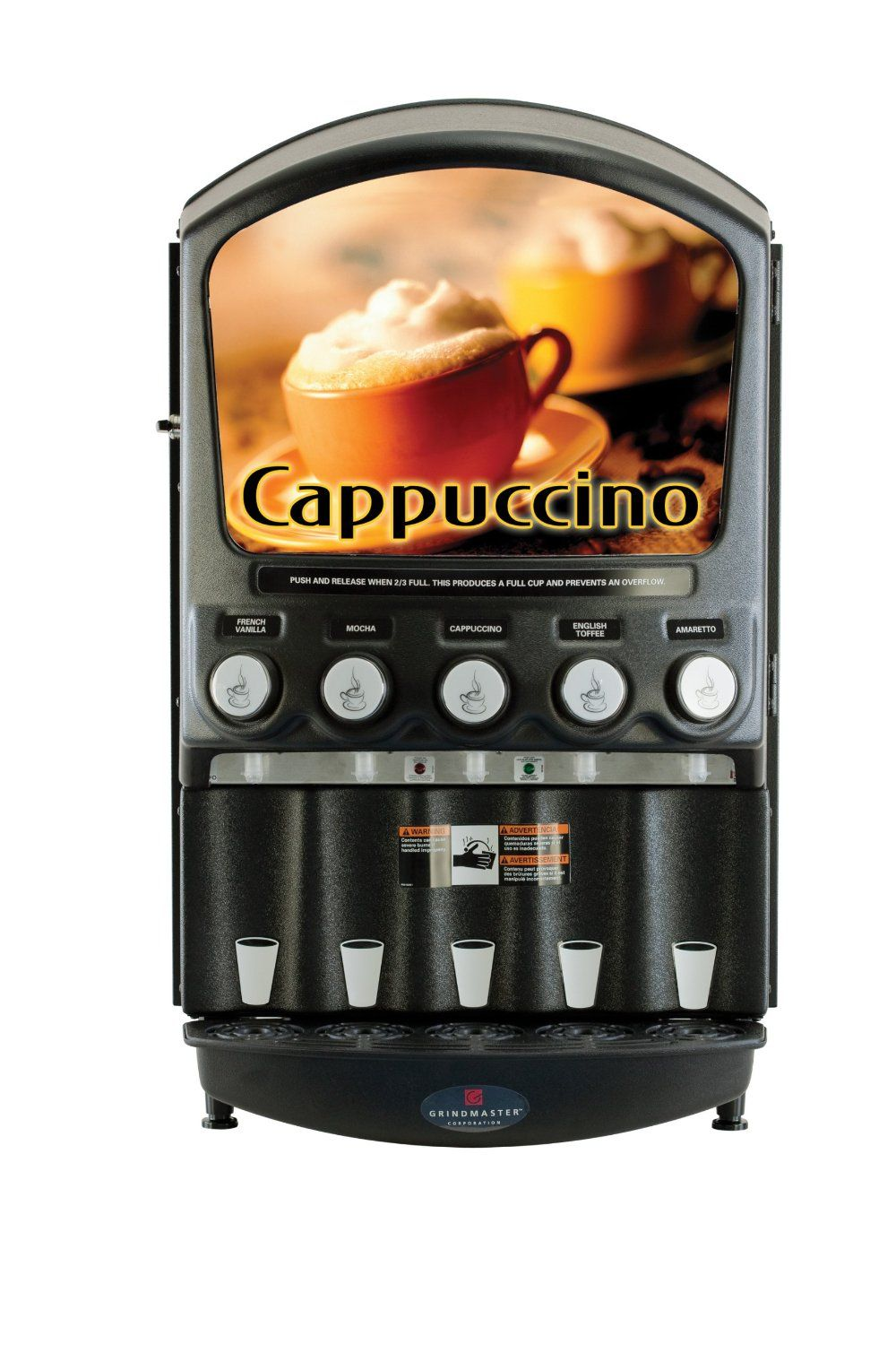 Grindmaster-Cecilware PIC5 5-Flavor Hot Powder Cappuccino/Hot Chocolate and Specialty Beverage Dispenser