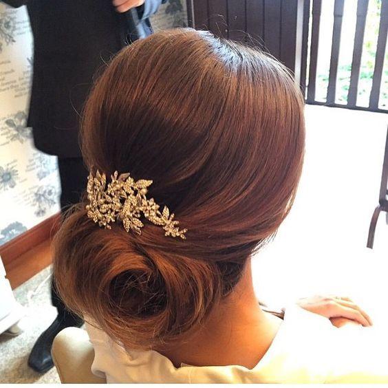 Peinados recogidos para novias 2017   beautyandfashionideas