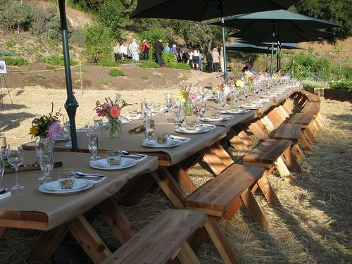 More Seating With Butcher Paper Tablecloths