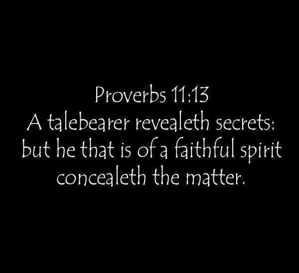 Talebearers Gossips Ungodly Healing Words Real