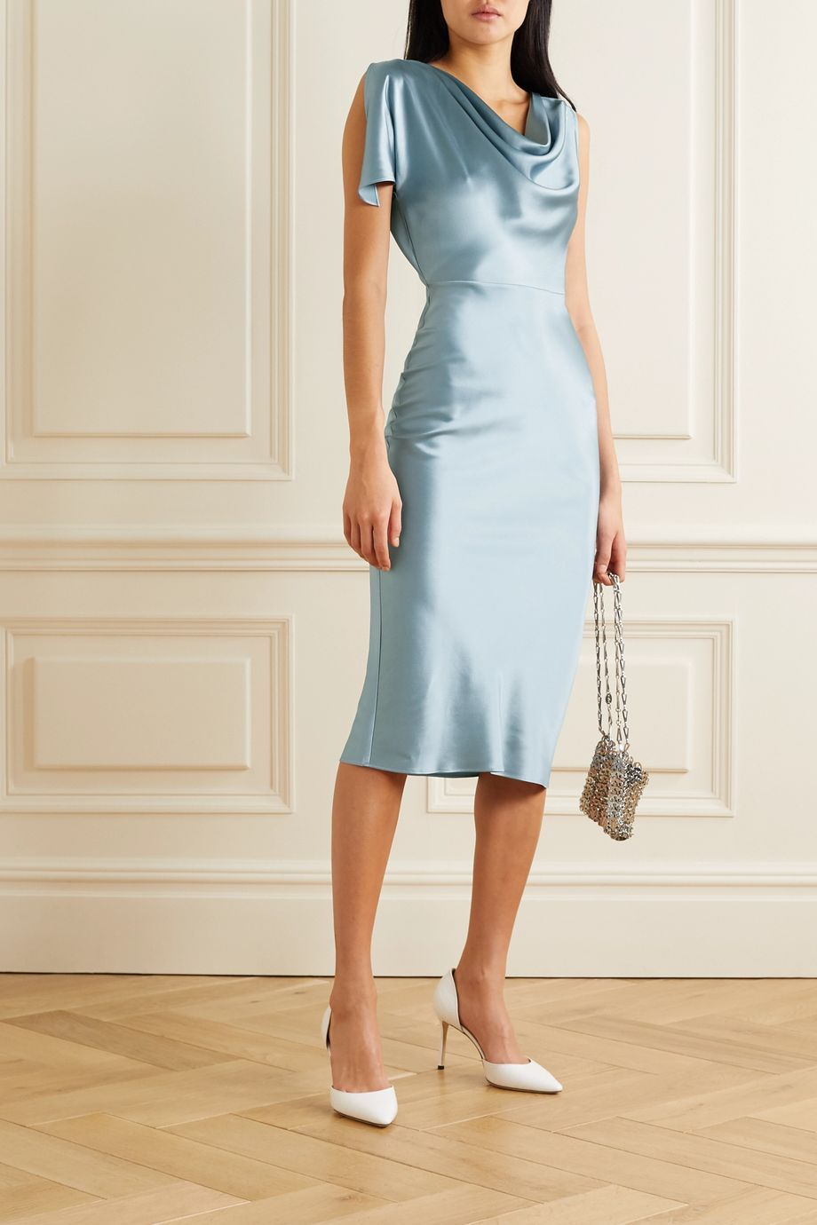 Fitted Sleeveless Mini Dress with Zipper detail at hem