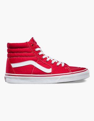 46a8edf94be1b VANS Sk8-Hi Shoes Red | Cute Shoes | Shoes, Top shoes, Mens high top ...