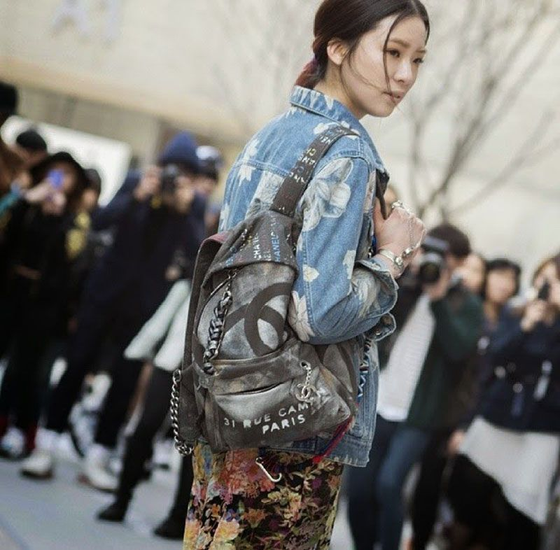 6e9b3e4d696ad the infamous Chanel canvas backpack ... | Essentials in 2019 ...