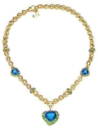 Margot McKinney Jewelry Denim Blue Topaz & South Sea Pearl Station Necklace SXkHti