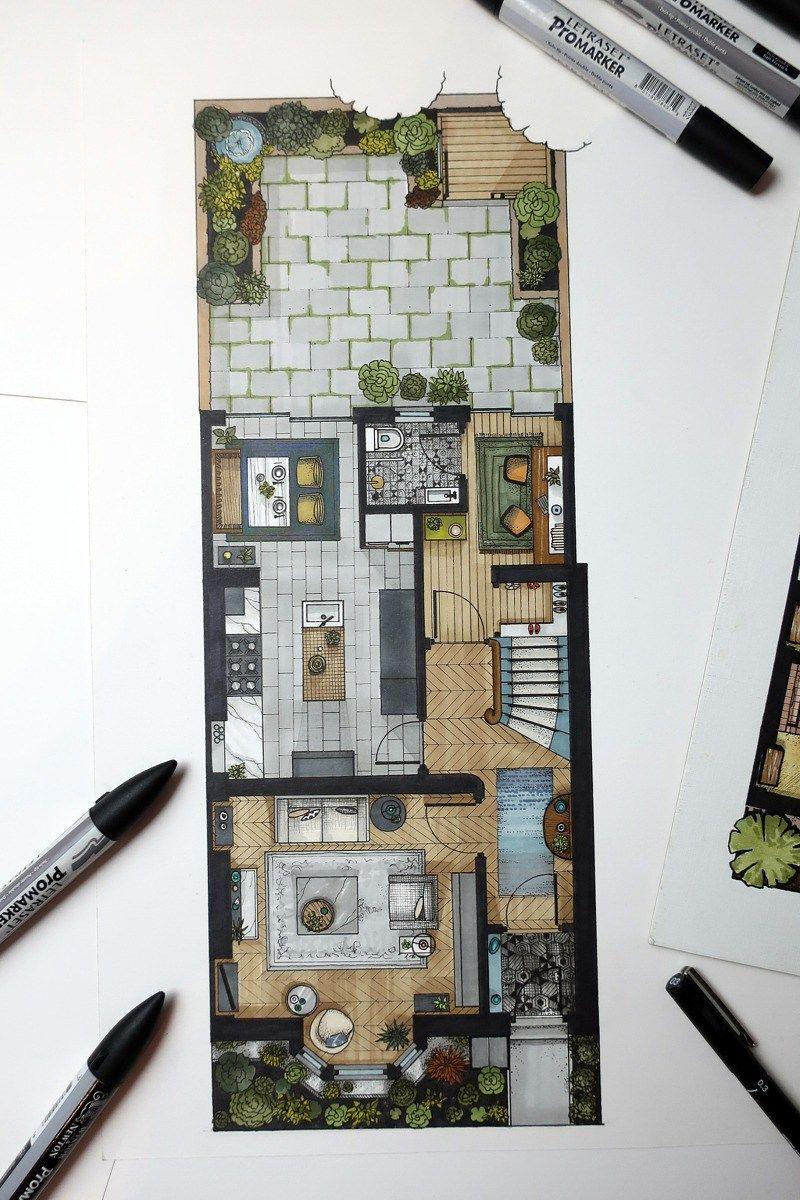 Designsixtynine new floor plan rendering architectural for Ponteggio ceta dwg