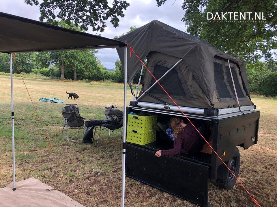 Daktent trailer aanhanger | Trailer, Tenttrailer, Tent