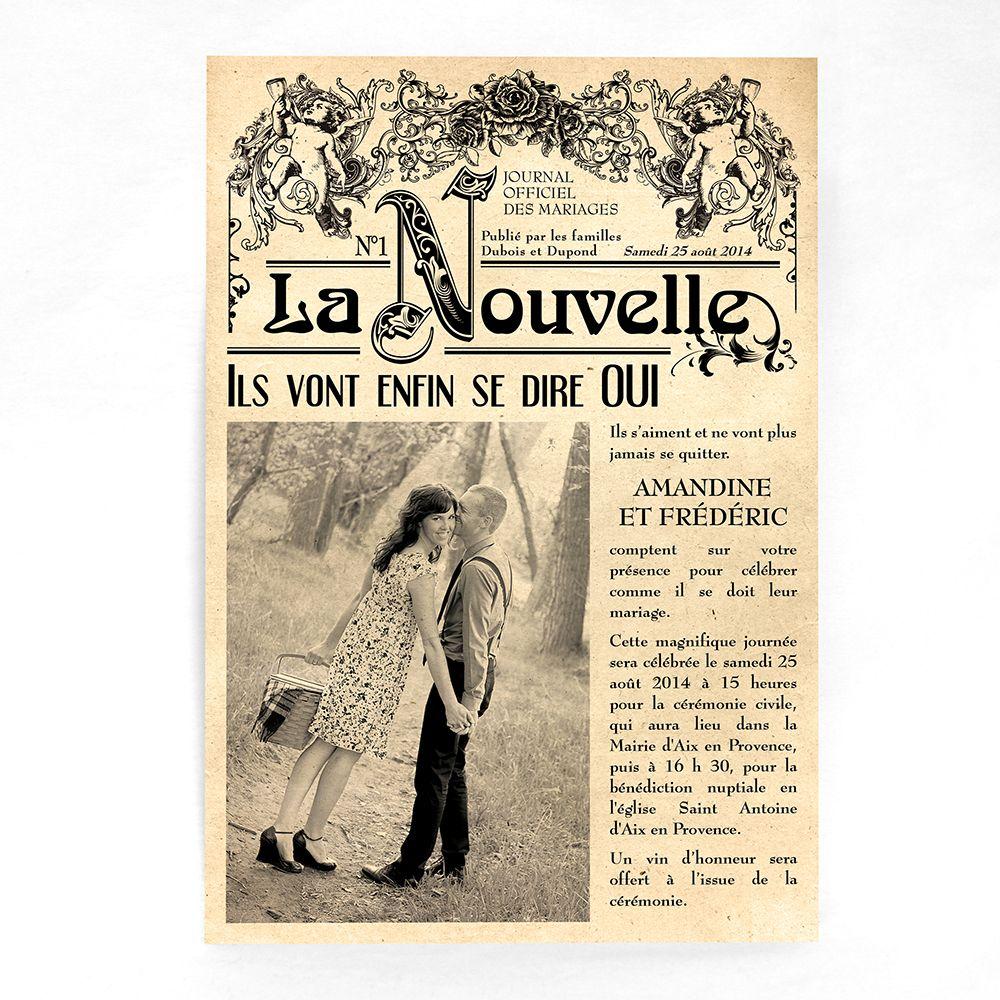 Faire Part Mariage Vintage Vieux Journal Faire Part Mariage Fm07 Vin 2 Faire Part Mariage Vintage Faire Part Mariage Journal Faire Part Mariage