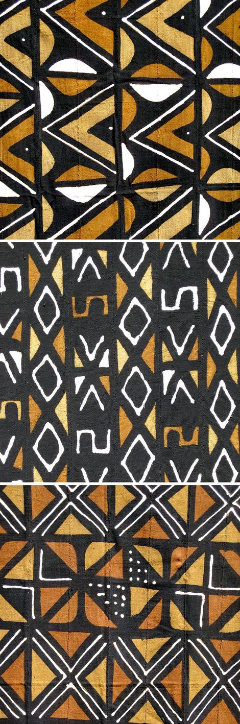 Mudcloth textiles by Ananse Village (via unruly-things) I can see quilts